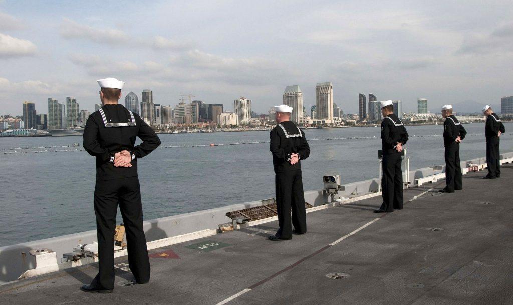 Navy Sailors on Ship